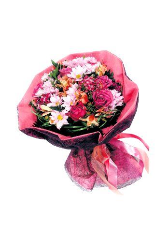 bouquet in pink flower shop
