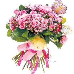 pink bouquet flower shop