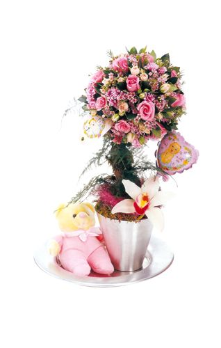 pink gift arrangement